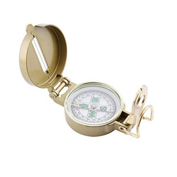 VGEBY Survival Compass 1 VGEBY Pocket Compass, Multi-Functional Military Aluminum Body Case Compass for Camping, Hiking, Hunting