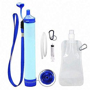 Jak Survival Water Filter 1 Jak Personal Water Filter Straw Water Purifier,Portable Water Filtration Straw Outdoor Purifier Survival Gear Best Life Emergency Tool for Climbing,Sports,Backpacking,Hiking,Camping,Travelling