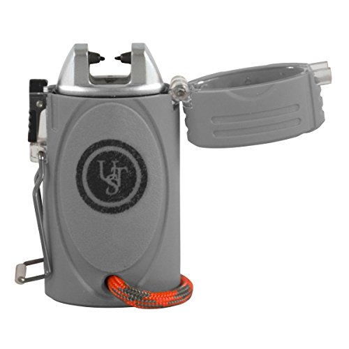UST Survival Fire Starter 1 UST TekFire LED Fuel-Free Lighter with Convenient, Lightweight, Rugged Construction and Emergency Paracord Lanyard for Camping, Backpacking, Hiking and Outdoor Survival