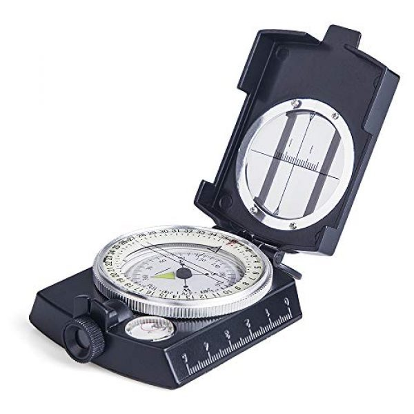 COSTIN Survival Compass 1 COSTIN Multifunctional Compass, Metal Military Waterproof High Accuracy Compass with Map Measurer, Distance Calculator,Bubble Level Perfect for Outdoor Activities, Matte Black