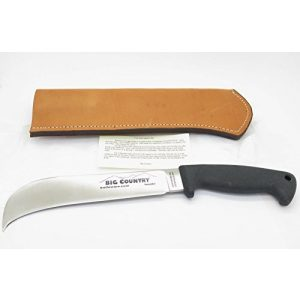 Big Country Knives Fixed Blade Survival Knife 1 Vintage Big Country Knifeware Hookr AUS-8 Seki Japan 8 Inch Hook Fixed Blade Hunting Survival Knife and Leather Sheath