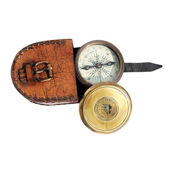 MAH Survival Compass 1 MAH Robert Frost Brass Poem Compass. C-3122