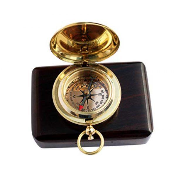 MAH Survival Compass 1 MAH Handmade Brass Push Button Engravable Direction Pocket Compass. C-3191