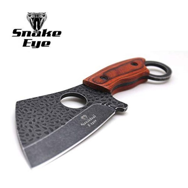 Snake Eye Tactical Fixed Blade Survival Knife 1 Snake Eye Tactical Heavy Duty Fixed Blade Cleaver Razor Style Hunting Knife w/Nylon Sheath