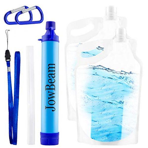 Jowbeam Survival Water Filter 1 Jowbeam Camping Straw Water Filter-Hiking Survival Purifier Kit (Upgraded Version)