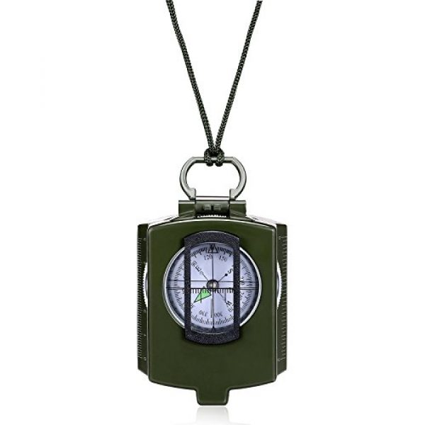 Anyow Survival Compass 1 Outdoor Survival Compass Multifunctional Military Map Sighting Lensatic Compass, Waterproof and Shakeproof for Adventure Hiking Camping with Pouch