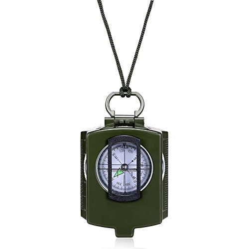 Anyow  1 Outdoor Survival Compass Multifunctional Military Map Sighting Lensatic Compass