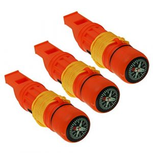 Emergency Zone  1 Emergency Zone 5 in 1 Survival Whistle. Compass
