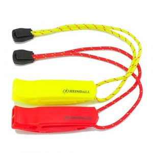 HEIMDALL Survival Whistle 1 HEIMDALL Emergency Whistle with Lanyard for Safety Boating Camping Hiking Hunting Survival Rescue Signaling