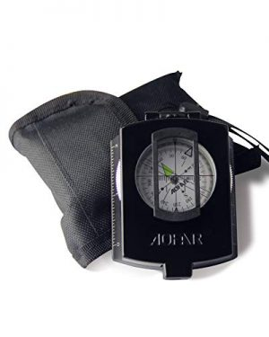 AOFAR  1 AOFAR AF-4580 Military Black Compass Lensatic Sighting Navigation