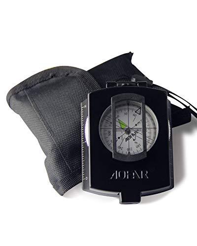 AOFAR  1 AOFAR AF-4580 Military Black Compass Lensatic Sighting Navigation