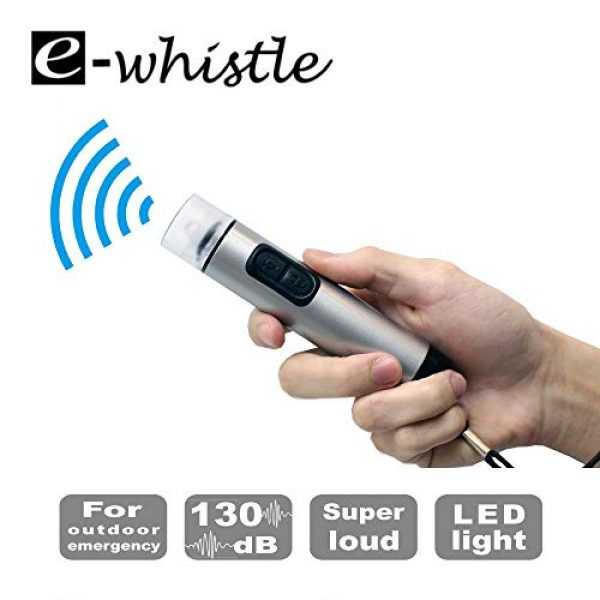 e-whistle Survival Alarm 1 e-whistle Electronic Whistle 2 in 1 Whistle + Flashlight | for Hiking, Camping, Self Defence, Sports Activity | Super Loud Over 130dB