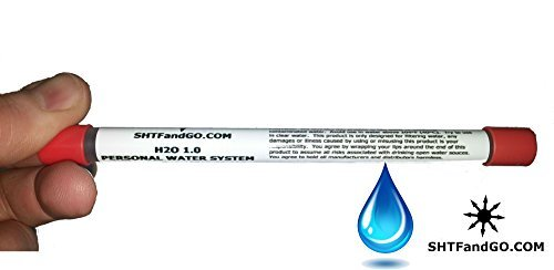 SHTFandGO  1 H2O 1.0 by SHTFandGO Survival Camping Water Straw Tiny Size Fits in Your Pocket.