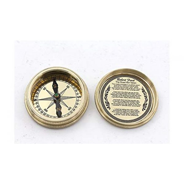 Roorkee Instruments India Survival Compass 1 Robert Frost Poem compass w/case