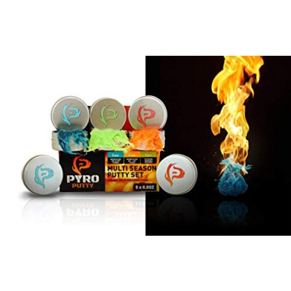 Phone Skope Survival Fire Starter 1 Phone Skope Pyro Putty Kits   Ultimate, Starter, or Ferro Rod   Comes w/Single Use Foils of Pyro Putty
