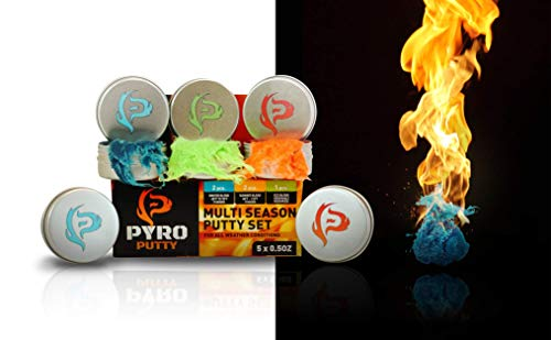 Phone Skope Survival Fire Starter 1 Phone Skope Pyro Putty Kits | Ultimate, Starter, or Ferro Rod | Comes w/Single Use Foils of Pyro Putty