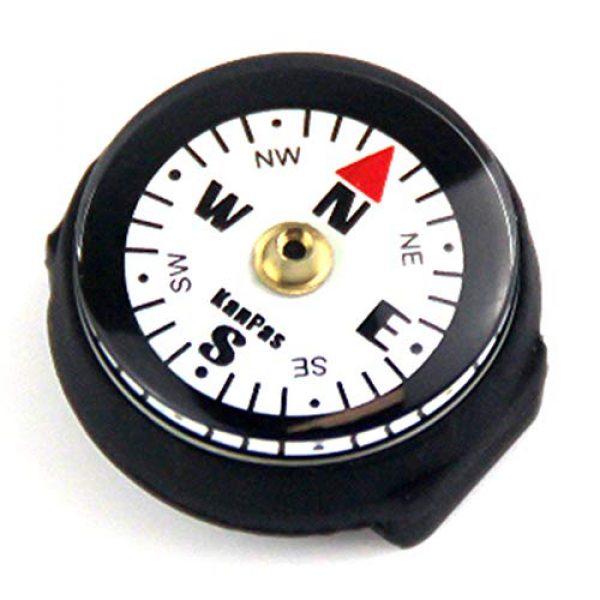 KanPas Survival Compass 1 KanPas Mini Luminous Button Compass for Watch Band Lanyard