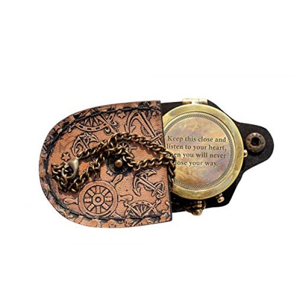 MAH Survival Compass 1 MAH Keep This Close and Listen to Your Heart , Camping Compass Engraved with Gift Compass C-3129