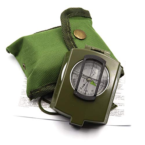 DETUCK  1 DETUCK(TM Military Compass Metal Sighting Lensatic Compass
