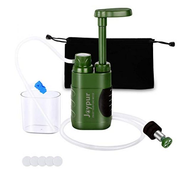 joypur Survival Water Filter 1 joypur Portable Outdoor Water Purifier Camping 0.01 Micron Emergency Backpacking Water Filter for Hiking with 3-Stage Filter Pump