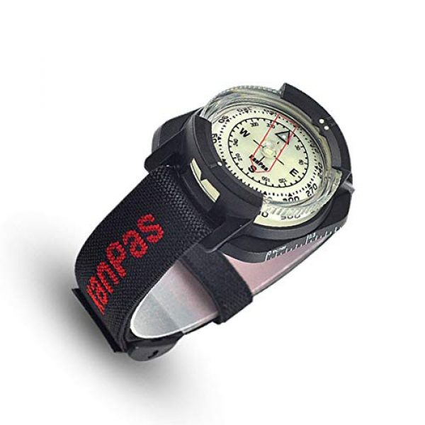 KanPas Survival Compass 1 Diving Sighting Wrist Compass for Outdoor Orienteering Mountaineering Hiking