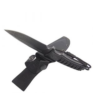 MASALONG  1 Masalong Fixed Blade Hunting Knife Straight Edge Blade Extreme Survival D2 Steel and Sheath
