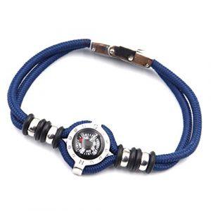 DETUCK Survival Compass 1 DETUCK(TM Compass Bracelet Working Navigation Compass Charm Detachable Bracelet Jewelry Gift Wrap