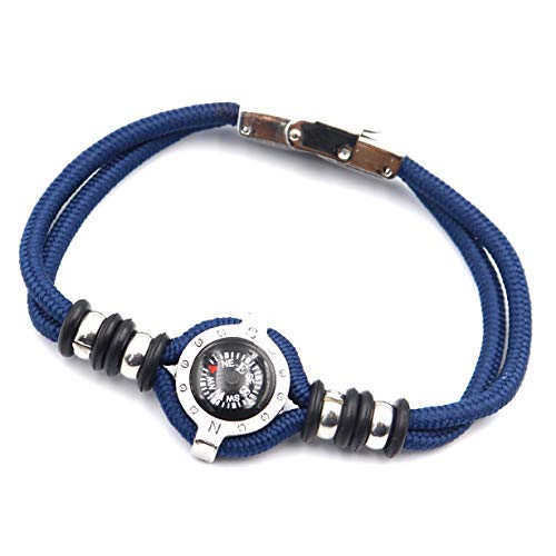 DETUCK  1 DETUCK(TM Compass Bracelet Working Navigation Compass Charm Detachable Bracelet Jewelry Gift Wrap