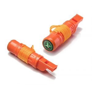 SE Survival Whistle 1 SE 5-in-1 Survival Whistles (2-Pack) - CCH5-1-2