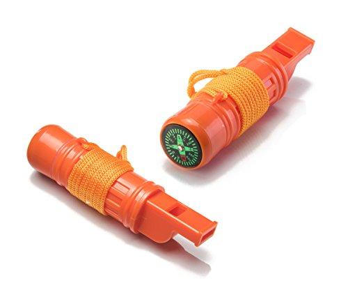 SE  1 SE 5-in-1 Survival Whistles (2-Pack) - CCH5-1-2
