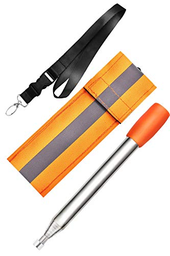 Kasego Survival Fire Starter 1 Kasego Retractable with Blowing Mouth Sheath, 31.50 inch Total Length, Fire Tube, Reflective Belt, Lanyard Storage Bag, Fire Tube