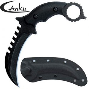 Canku  1 Canku C1696 Fixed Blade Knife D2 Steel G10 Handle 4.3 Inches