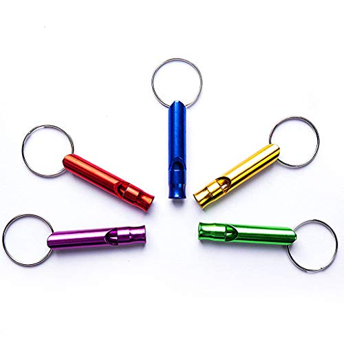 Tree Bud  1 Tree Bud 5pcs Hiking Camping Survival Aluminum Whistle with Key Chain