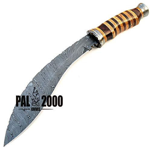 PAL 2000 KNIVES  4 SGNT-9372 Custom Handmade Damascus Steel Blade Hunting Bowie Knife -Sword/Chef Kitchen Knife/Dagger/Full Tang/Axe/Billet/Cleaver/Bar/Folding Knife/Knives Accessories/Survival/Camping with Sheath