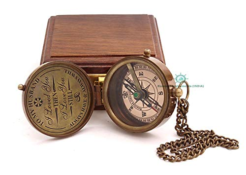 Roorkee Instruments India  1 Roorkee Instruments India Engraved to My Husband Compass/Valentines Gift for Him/Gift for Boy/Gift for Him/Gift for Men/Gift for Husband from Wife for Anniversary/Birthday/Happy Wedding