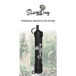 She's My Daisy Survival Water Filter 1 She's My Daisy - Personal Water Filter Straw | Survival Gear for Emergency Water Purification, Hiking, Camping, Travel | Drinking Filtration Equipment | Prepper Kit Essential | Portable Tactical Size
