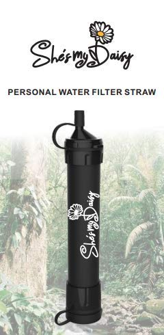 She's My Daisy  1 She's My Daisy - Personal Water Filter Straw | Survival Gear for Emergency Water Purification