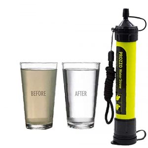 AVENTURE ET CULTURE Survival Water Filter 1 AVENTURE ET CULTURE Personal Water Filter for Hiking, Camping, Travel, and Emergency Preparedness