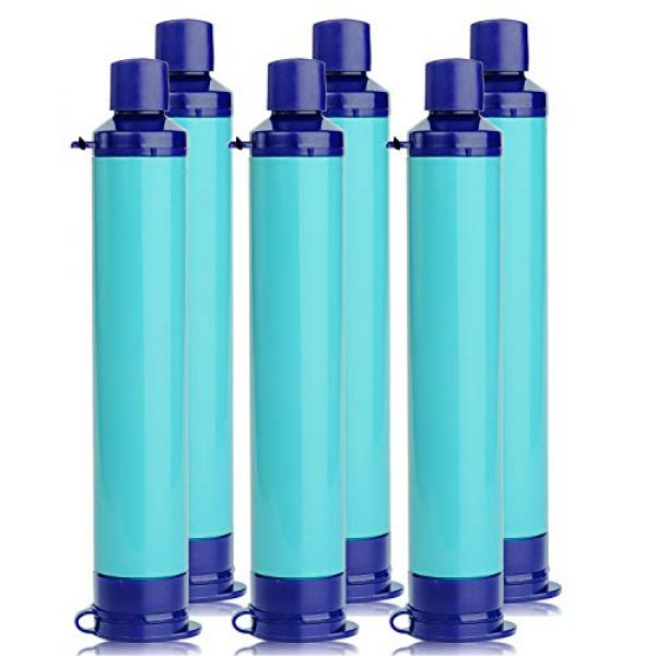 Membrane Solutions Survival Water Filter 1 Membrane Solutions Straw Water Filter,Survival Filtration Portable Gear,Emergency Preparedness,Supply for Drinking Hiking Camping Travel Hunting Fishing Team Family Outing