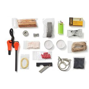 Stanford Outdoor Supply Survival Fire Starter 1 Fire B.O.S.S.Off Grid Tools Survival Fire Starting Kit - Bug Out Bag Ready Fire Kit Includes 33 Fire Starting Items.