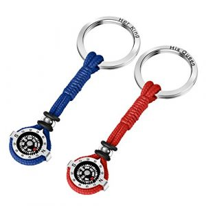 DAYHAO  1 DAYHAO Novelty Compass Keychain for Outdoor Enthusiast