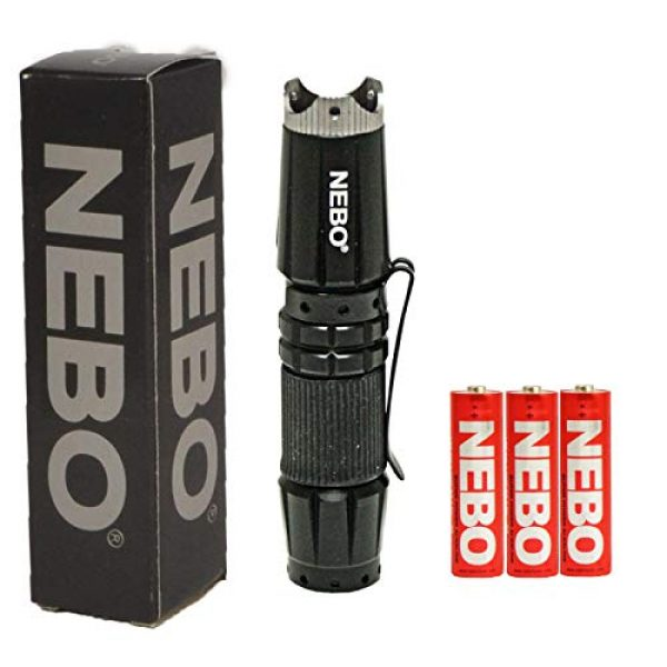 NEBO Survival Flashlight 1 NEBO 5872 CSI Edge 90 Lumens Aluminum LED Flashlight 5872 with 2X Extra Energizer AA Batteries