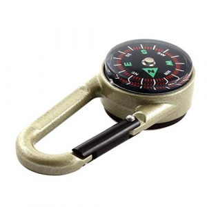 Acme Approved Survival Compass 1 Acme Approved Compass and Thermometer Carabiner for Hiking Backpacking, Traveling, Keychain, and Camping Accessory-Small Pocket Size Survival Tool for Outdoor Activities.