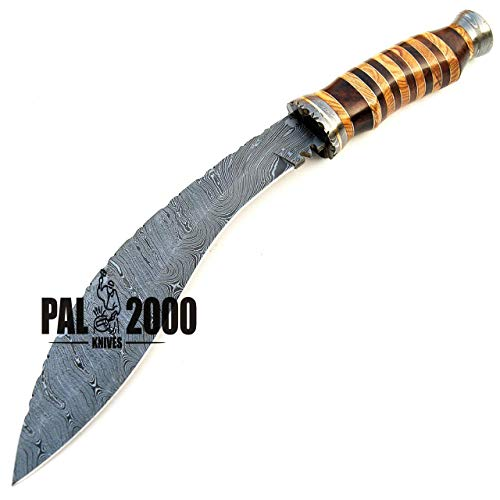 PAL 2000 KNIVES  6 SGNT-9372 Custom Handmade Damascus Steel Blade Hunting Bowie Knife -Sword/Chef Kitchen Knife/Dagger/Full Tang/Axe/Billet/Cleaver/Bar/Folding Knife/Knives Accessories/Survival/Camping with Sheath