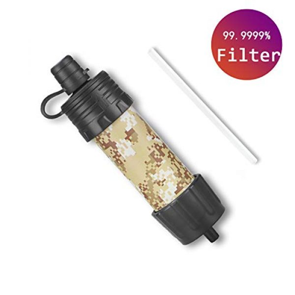Easiestsuck Survival Water Filter 1 Easiestsuck Portable Mini Water Filter Straw 0.01 Micron,Emergency Water Filtration System for Camping, Hiking and Backpacking