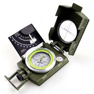 AOFAR Survival Compass 1 AOFAR AF-4074 Military Camo Compass for Hiking,Lensatic Sighting Waterproof,Durable,Inclinometer for Camping,Boy Scount,Geology Activities Boating