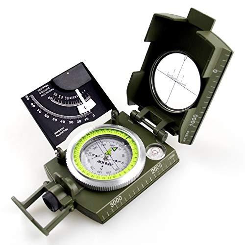 AOFAR  1 AOFAR AF-4074 Military Camo Compass for Hiking
