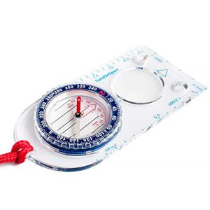 TurnOnSport Survival Compass 1 Orienteering Compass - Hiking Backpacking Compass - Advanced Scout Compass Camping and Navigation - Boy Scout Compass Kids - Professional Field Compass for Map Reading - Best Survival Gifts