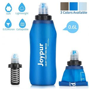 joypur Survival Water Filter 1 joypur Outdoor Filtered Water Bottle - BPA Free,with Filter Integrated 2 Stage Portable Water Bottle for Camping Travel Hiking Backpacking