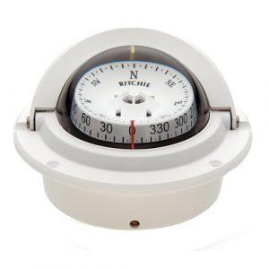 """Ritchie Survival Compass 1 Compass, Flush Mount, 3"""" Combi, White"""